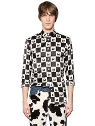 Au Jour Le Jour Train And Check Printed Techno Satin Shirt