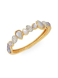 Alexis Bittar Elements Maldivian Mother Of Pearl And Crystal Cluster Bangle Bracelet Gold