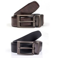 Dents Mens Reversible Leather Belt Brown