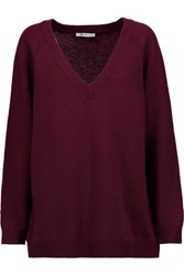 Alexander Wang T By Oversized Wool And Cashmere Blend Sweater Merlot