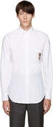 Thom Browne White Hector Crest Shirt