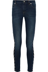 Mcq By Alexander Mcqueen Harvey Studded Skinny Jeans Navy