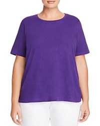 Eileen Fisher Plus Organic Cotton Heathered Tee Ultraviolet