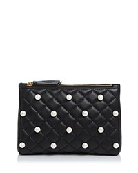 Boutique Moschino Faux Pearl Clutch Black
