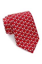 Tailorbyrd Elephant Silk Tie Red