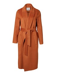 Selected Rust Foby Belted Coat