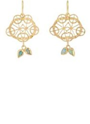 Judy Geib Kaleidoscope Drop Earrings Colorless