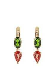 Ileana Makri Sapphire Diopside And Yellow Gold Earrings Yellow Gold