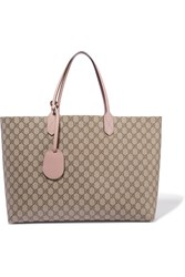 Gucci Turnaround Medium Reversible Textured Leather Tote Beige