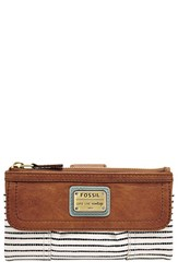 Women's Fossil 'Emory' Flap Clutch Wallet
