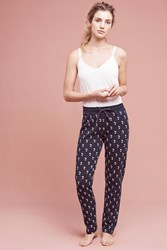 Anthropologie Cactus Joggers Blue Motif