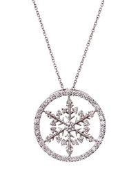 Roberto Coin Diamond Pave Snowflake Pendant Necklace Women's