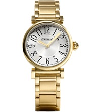 Coach 14501720 Madison Gold Toned Stainless Steel Watch Peal