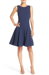 Women's Julia Jordan Waffle Texture Fit And Flare Dress