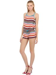 Lightning Bolt Gipsy Stretch Techno Romper Multi