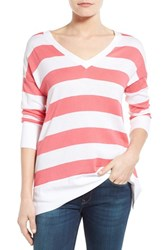 Women's Tommy Bahama 'Pickford' Stripe V Neck Pullover