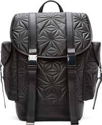 Neil Barrett Black Quilted Leather Prism Backpack