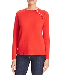 Bloomingdale's C By Button Detail Cashmere Sweater Cherry