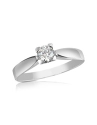 Forzieri 0.23 Ctw Diamond Solitaire Ring White Gold