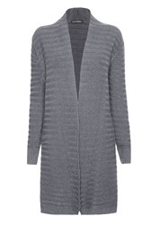 James Lakeland Ribbed Cardigan Grey