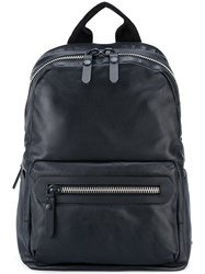 Lanvin Zip Pocket Backpack Black