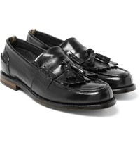 Officine Creative Cambridge Leather Kiltie Tasselled Loafers Black