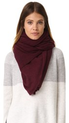 White Warren Cashmere Travel Wrap Scarf Burgundy Heather