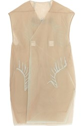 Rick Owens Embroidered Mesh Vest Nude