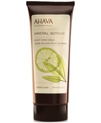 Ahava Mineral Botanic Velvet Hand Cream Lemon And Sage No Color