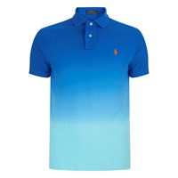 Polo Ralph Lauren Men's Dip Dyed Polo Shirt Bright Imperial Blue