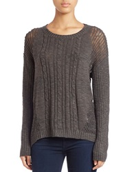 Buffalo David Bitton Open Knit Sweater Charcoal