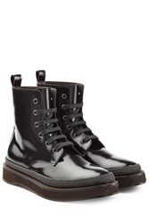 Brunello Cucinelli Patent Leather Ankle Boots Black