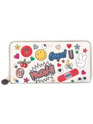 Anya Hindmarch Multi Print Wallet White