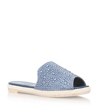 Gina Biarritz Leather Espadrille Female Blue