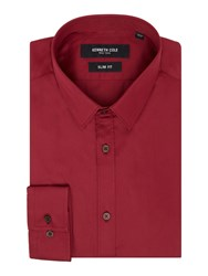 Kenneth Cole Winston Travel Shirt Deep Red