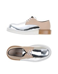 Mobi Footwear Lace Up Shoes Women Silver