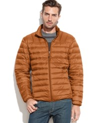 Hawke And Co. Outfitters Packable Down Jacket Burnt Orange