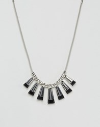Oasis Multi Tooth Necklace Silver