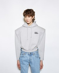 Vetements Football Shoulder Hoodie Grey Print