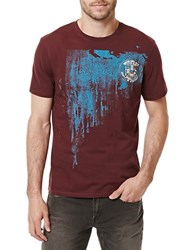 Buffalo David Bitton Nired Graphic Printed Tee Currant