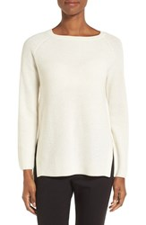Nordstrom Women's Collection Bateau Neck Cashmere Pullover Ivory Soft