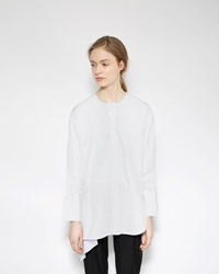 3.1 Phillip Lim Asymmetrical Poplin Shirt White