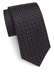English Laundry Circle Patterned Silk Tie Black