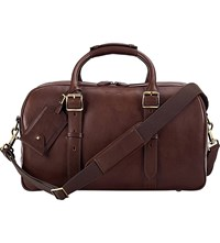 Aspinal Of London Harrison Weekender Small Leather Bag Chocolate