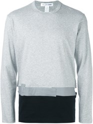 Comme Des Garcons Shirt Colour Block Sweatshirt Grey