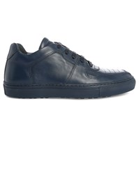 National Standard Blue Mono Edition 11 Leather Sneakers