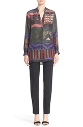 Etro Women's Mixed Print Silk Tunic