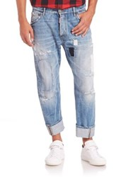 Dsquared Workwear Ripped And Patched Jeans