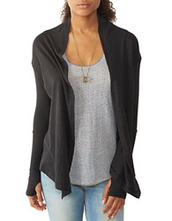 Alternative Apparel Knit Open Cardigan True Black