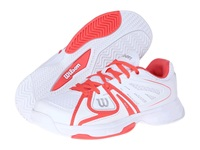 Wilson Rush White White Coral Women's Tennis Shoes